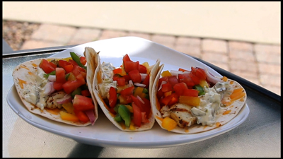 Grilled Bluegill fish Tacos