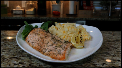 Lemon Dill baked Trout